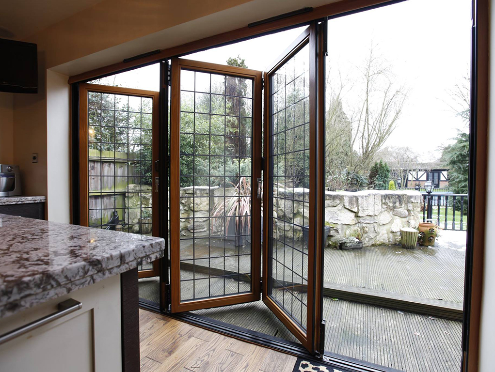 Wooded bi-fold doors