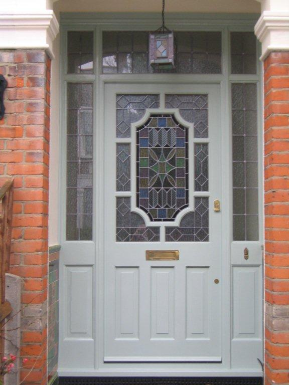 Grey stain glassed front door