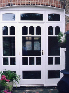 White french wood pation doors